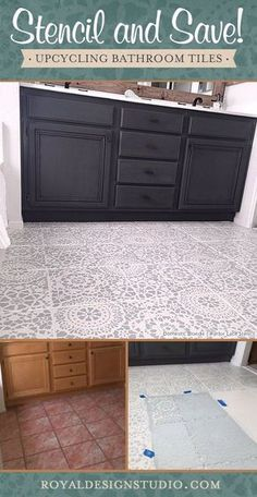 Did you know you can save money and time by painting over your bathroom tile rather than an entire floor makeover? Here are some tips on DIY floor stencils.