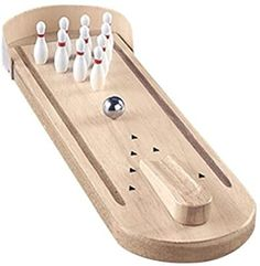 Enjoy table top fun with the classic Wooden Mini Bowling Game! Small Wood Projects, Woodworking Projects For Kids, Woodworking Toys, Fun Projects, Mini Bowling, Bowling Party, Wholesale Party Supplies, Fun Board Games, Indoor Games