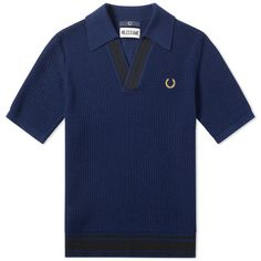 FRED PERRY LAUREL WREATH FRED PERRY X MILES KANE V-NECK KNIT SHIRT. #fredperrylaurelwreath #cloth #