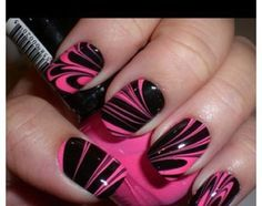 Marble nails: if you want to know how to do this ask me