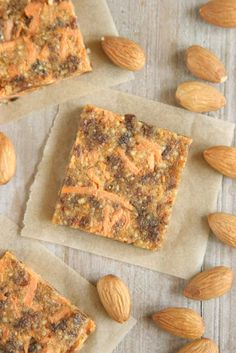 Carrot Cake Energy Squares Recipe | Daily Bites | Healthy Gluten-Free + Dairy-Free Recipes