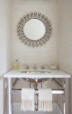 Beautiful #mirror. Interior designed by Morris Woodhouse Interiors.