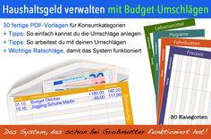 Mit diesem praxiserprobten System setzt du dir ein klares Budget für einen Zeitraum und legst das Geld in bar in einen Umschlag. So hast du die perfekte Kontrolle über dein Geld und entwickelst ein Gefühl dafür, wo es hin fließt.