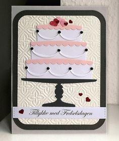 Card cake hearts heart MFT Bring on the Cake Die-namics MFT-502 #mftstamps Happy Birthday Have a Delicious Day MFT Blueprints 31 Die-namics elements - kort kage lagkage fødselsdag hjerteligt tilllykke - JKE