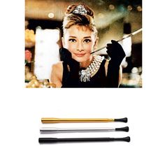 Travel back in time with this vintage-inspired cigarette holder! This is a marvelous gift for anyone who loves beauty, fashion, quality and Audrey! Add this timeless classic to your outfit to accentua