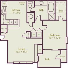 1000 Images About Floor Plans On Pinterest Apartment Floor Plans Floor Plans And 1 Bedroom