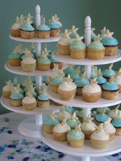 Sweet beachy theme cupcakes!