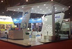 Creative exhibition booth design and build for Marketing Manchester/MAG at World Routes, Chengdu Shuangliu International Airport CHINA.