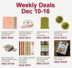 I love the Weekly Deals from Stampin' Up!