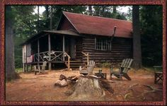 rustic cottages, hidden in the woods, I would take it!!!!