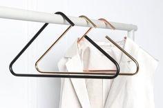 STAVROS SET OF minimal hanger clothing rack copper gold black coathanger triangle simple geometric – Hanger rack Hanger Rack, Coat Hanger, Clothes Hanger, Heavy Hangers, Gold Hangers, Or Noir, Globe Pendant Light, Custom Lighting, Cleaning Wipes