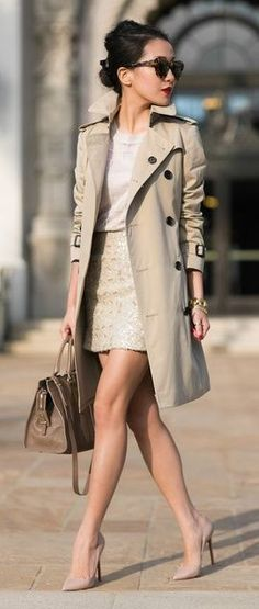 #streetstyle #casualoutfits #spring | Shades of Beige + Sequins | Wendy's Lookbook                                                                             Source