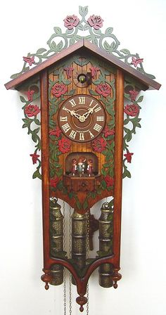 German clock (Black Forest cuckoo) in a vintage style... musical 8 day clock
