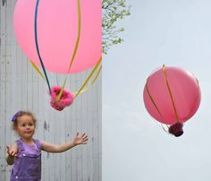 This homemade hot air balloon is genius! My kids were seriously go crazy over this fun idea.