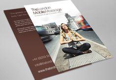 A print design for The London Mobile Massage, by evokeu. evokeu.com