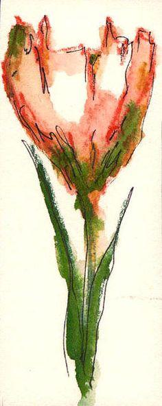 "quick pen & ink & watercolor by Marilyn ""Mara"" Parent"