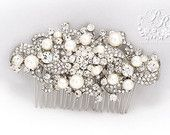 Wedding Hair Comb Swarovski Pearl Rhinestone Hair Comb Wedding Jewelry Bridal Jewelry Hair accessory Bridal Hair Comb Wedding Accessory Ivy