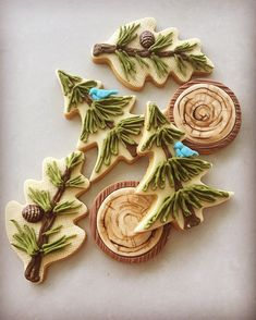Picture only. Woodland cookies. Baby Shower cookies.