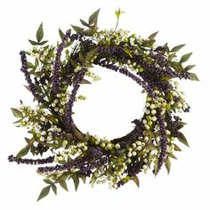 Spring Faux Berry Wreath