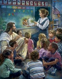 Mrs. Wellmann's Sunday School Class: Jesus Loves Children