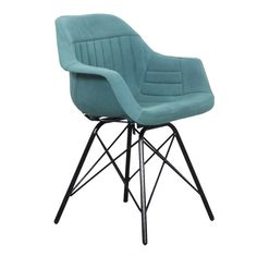 Pole to Pole - Co Pilot aviator arm chair aqua blue Kitchen Chairs, Dining Chairs, Dining Table, Restoration Hardware Chair, Outdoor Lounge Chair Cushions, Studio Furniture, Chair Bench, Office Table, Blue Canvas