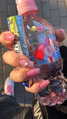 Cute Acrylic Nails, Cute Nails, Pretty Nails, My Nails, Aesthetic Photo, Pink Aesthetic, Aesthetic Pictures, Nagel Gel, Nail Inspo