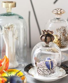 Display your jewelry pieces with pride with these DIY jewelry cloches.