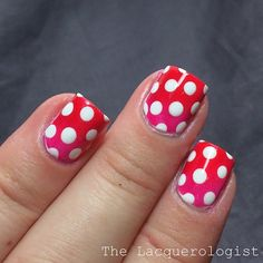 The Lacquerologist does an adorable a Valentine Mani Nail Art