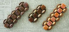 Linda's Crafty Inspirations: Playing with my beads...Toying with Tiles pattern by Sam Wescott