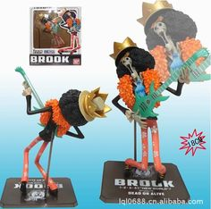 11.19$  Watch here - http://alix8s.shopchina.info/1/go.php?t=32317968809 - 18cm Brook One Piece Action Figures Anime PVC brinquedos Collection Figures toys with Retail box  #magazine