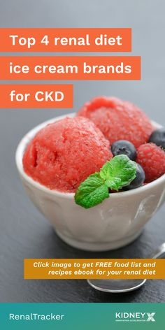 There are non-dairy ice cream options with less protein, potassium, and phosphorus. Click the image for alternatives to ice cream you can eat on a renal diet. Healthy Kidney Diet, Healthy Kidneys, Kidney Health, Types Of Ice Cream, Ice Cream Brands, Ice Cream Nutrition, Craving Ice Cream, Avocado Fat, Non Dairy Ice Cream