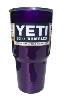 Amazon.com: YETI Rambler Cup Custom Colors, 30 oz, Stainless Steel Tumbler, Travel Mug, Powder Coated (Intense Purple): Kitchen & Dining