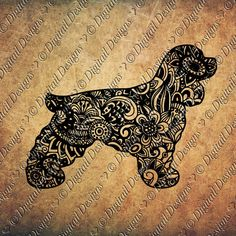 Zentangle Cocker Spaniel SVG dxf fcm eps ai by DigitailDesigns