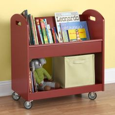 Local Branch Library Cart (Tomato)  | Crate and Barrel