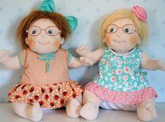 Lovely dolls wearing glasses