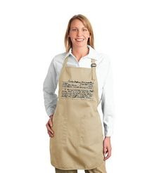 This Custom Recipe Apron is a Great Gift to Say Happy Mother's Day #mothersday trendhunter.com