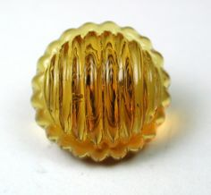 Antique Charmstring Glass Button Striped Honey Color Candy Mold w Swirl Back 1840-60s | eBay