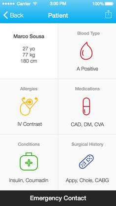 Patient Card (iOS7) / Marco