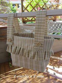 Cosa ti mismo un bolso de pinzas de la ropa. Sewing Tutorials, Sewing Projects, Sewing Patterns, Clothespin Bag, Peg Bag, Sewing Aprons, Fabric Bags, Fabric Crafts, Inspiration