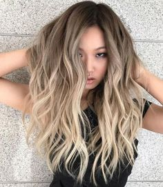 Long Wavy Ash Blonde Hair