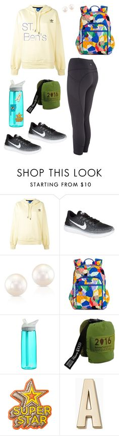 """""""Adventure Time"""" by walzfashion ❤ liked on Polyvore featuring adidas, NIKE, Anne Sisteron, Vera Bradley, CamelBak, Anya Hindmarch and Kate Spade"""