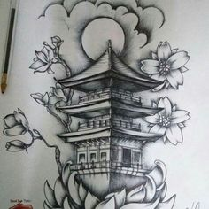 35 Ideas tattoo designs brazo for can find Japanese sleeve tattoos and more on our Ideas tattoo designs brazo for 2019 Japanese Temple Tattoo, Japanese Tattoo Women, Japanese Tattoo Symbols, Japanese Tattoo Art, Japanese Tattoo Designs, Japanese Sleeve Tattoos, Japanese Drawings, Japanese Dragon Tattoos, Japanese Art