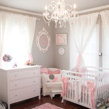 Tiny Pink and Gray Nursery Looks Lovely