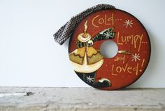 Snowman Record Hand Painted Christmas Snowman MGM by Ramshackles