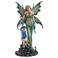 Fairy Mother with Son Statue - 05-91515 by Medieval Collectibles