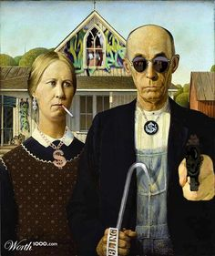 American Gothic Parody by Jeffenstein