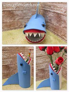 shark, shark week, back to school, back to school craft, idea, ideas, craft ideas, shark craft, easy, kids, easy kid craft, craft foam, craf...