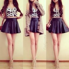 loose crop top outfit - Google Search