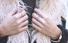ABOUT LOVE  Golden rings fashion blogger street style