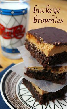 Buckeye Brownies {Prairie Gal Cookin'}